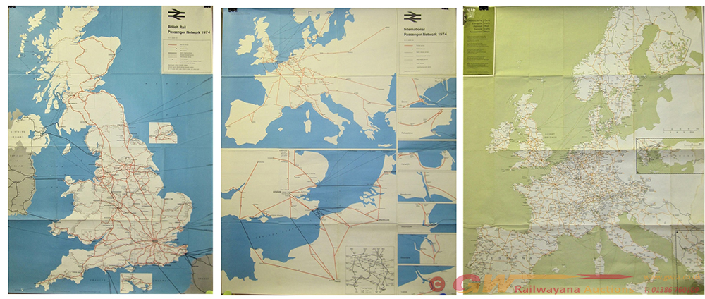 A Lot Containing 10 X 1970s Poster Maps With 3 X