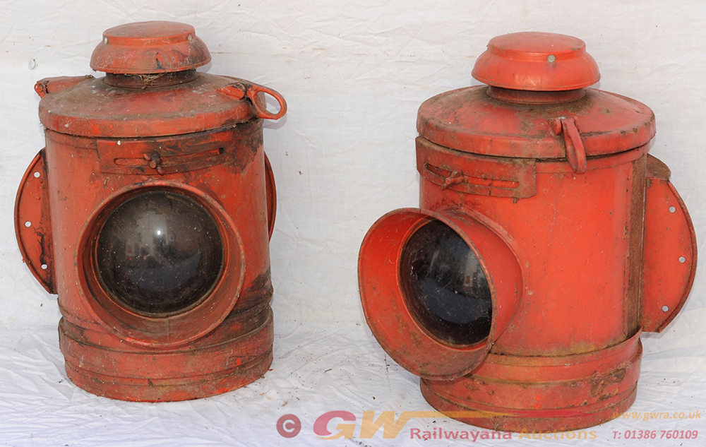 Two Southern Railway GATE LAMPS Complete With
