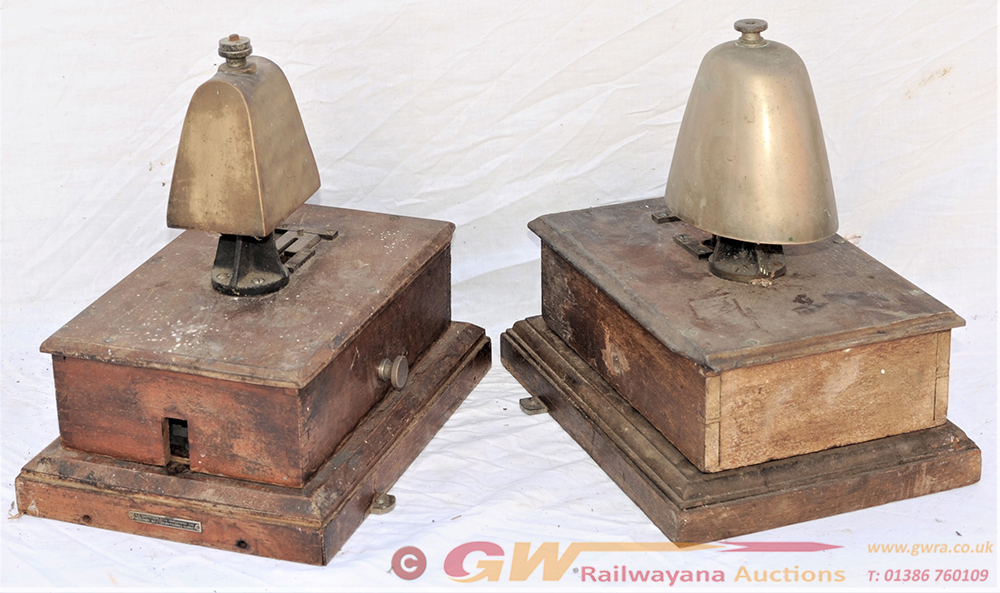 2 X GWR/WR BLOCK BELLS. One Being A Single Line