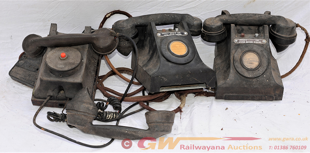 A Lot Containing 3 X Bakelite TELEPHONES As Used
