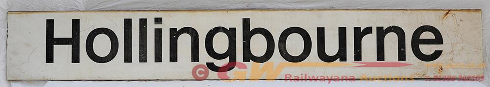 Modern Image Station Sign. HOLLINGBOURNE. Good
