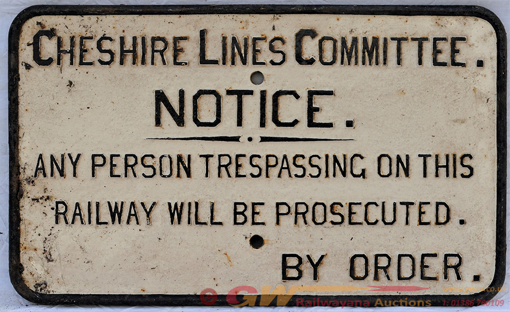 CLC Cast Iron Trespass Notice. ANY PERSON