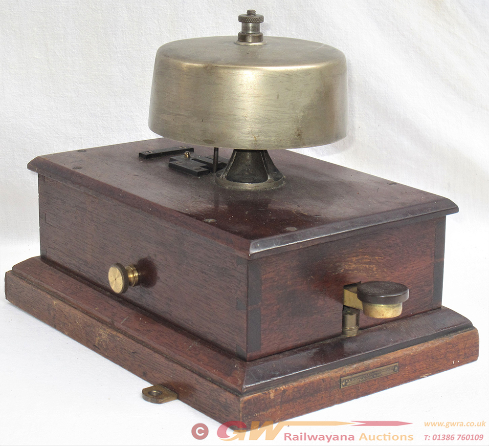 BRWR BLOCK BELL. Flat Top Bell Fitted In Good Ex