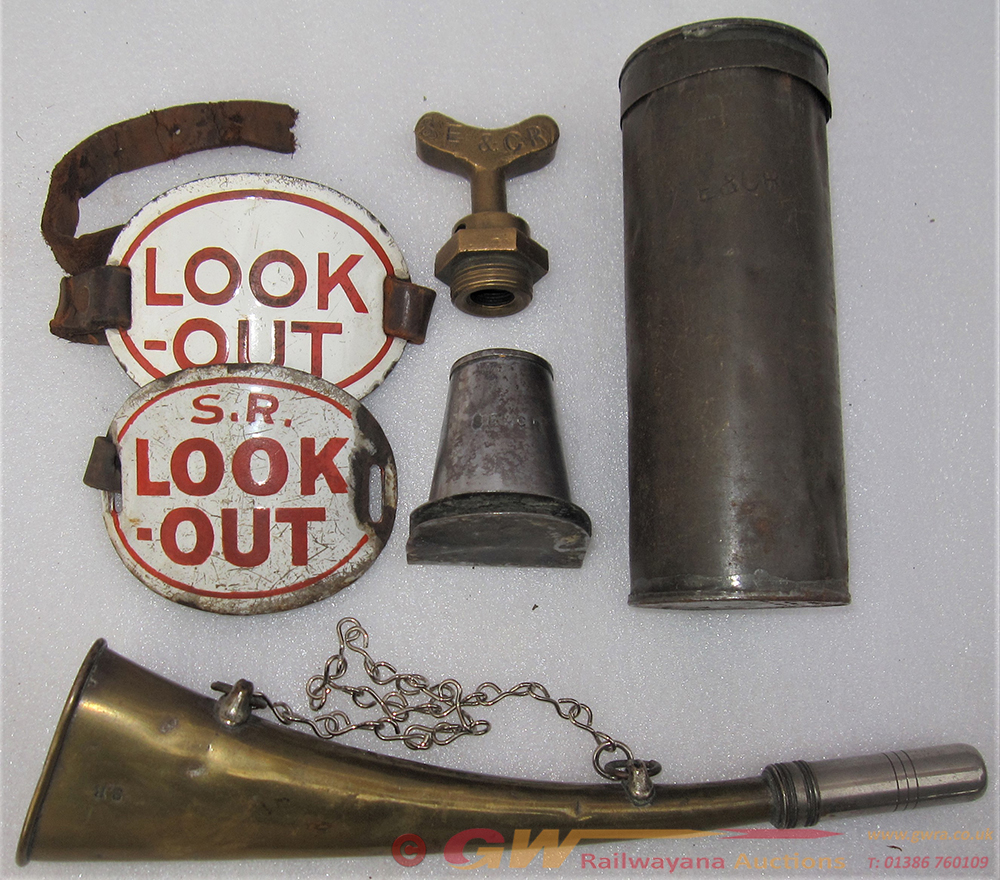 A Sundry Lot Consisting Of A Brass SR Look Out