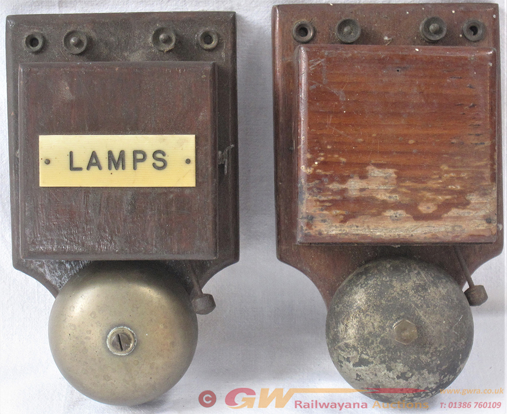 2 X GWR Lamp Indicator Warning Bells. One Fitted
