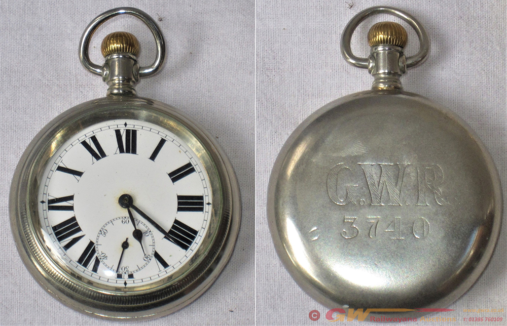 GWR Pre Grouping Guards Pocket Watch. Engraved On