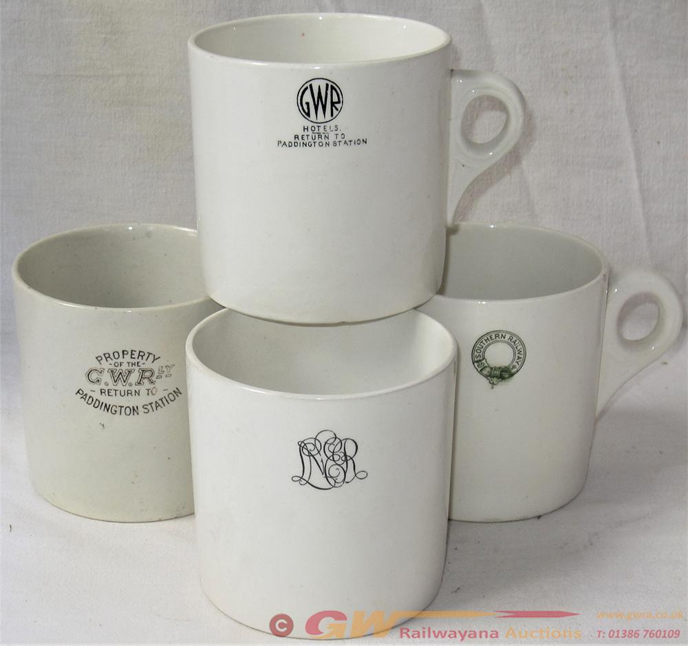 A Lot Containing 4 X Railway Tea Mugs. All