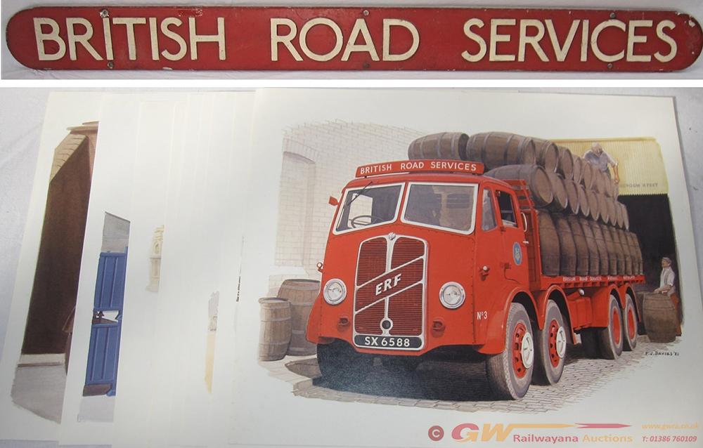 A Motor Lorry Head Board Carried By BRS Lorries.