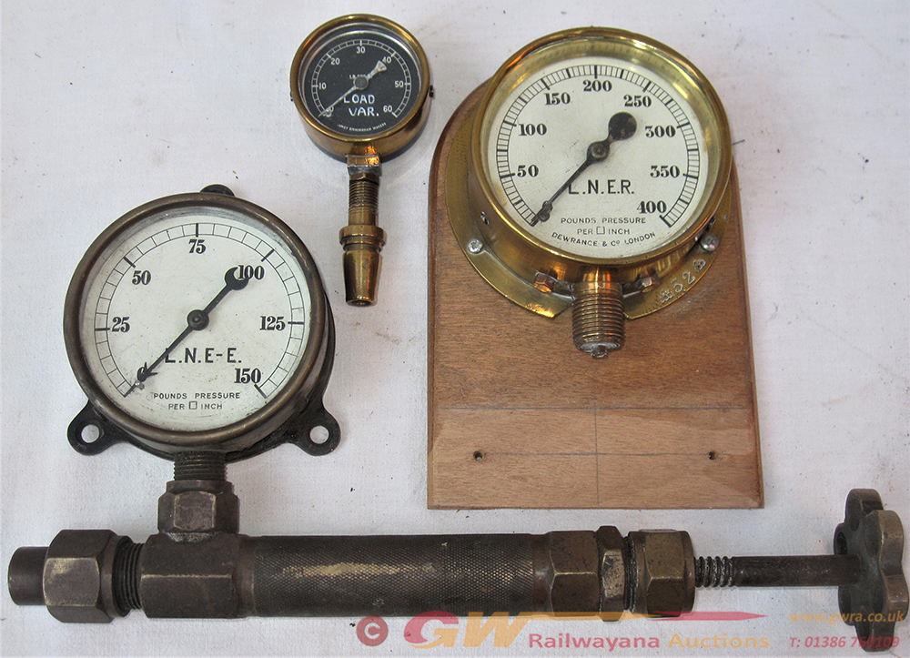 A Lot Containing 3 Brass Case PRESSURE GAUGES.