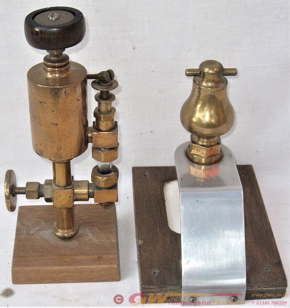 2 X Brass Locomotive Items. Brass Lubricator