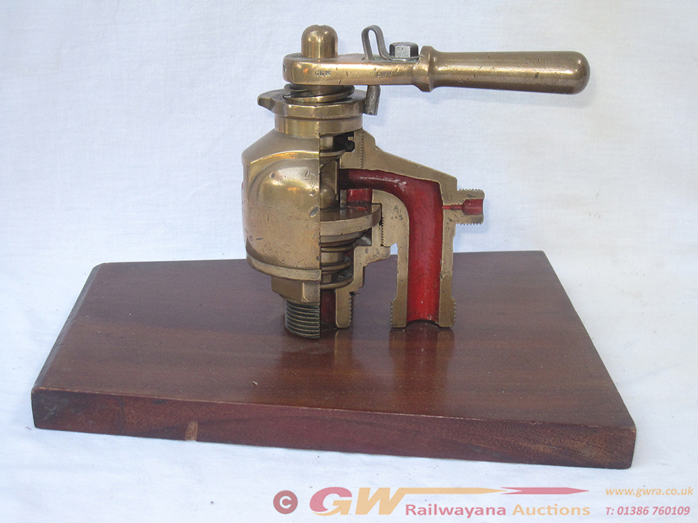 Brass Cut Away Hand Operated VALVE ASSESSEMBLY As