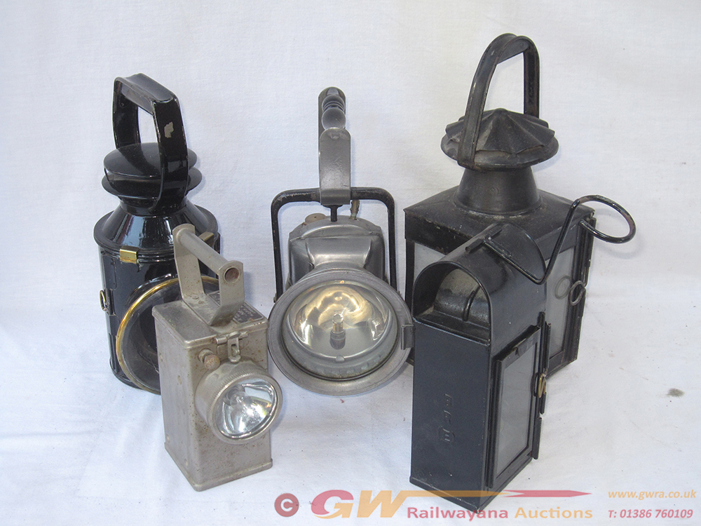A Lot Containing 5 X Railway Lamps. BR Standard