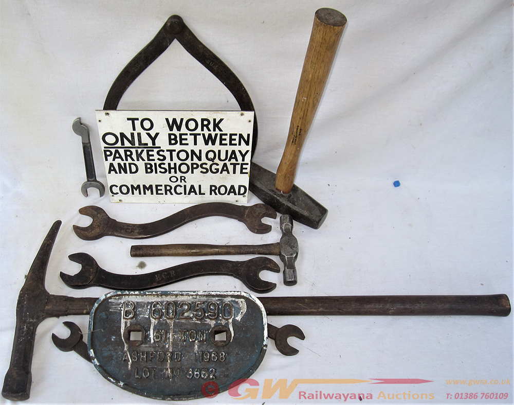 A Lot Containing Various Railway Tools To Include