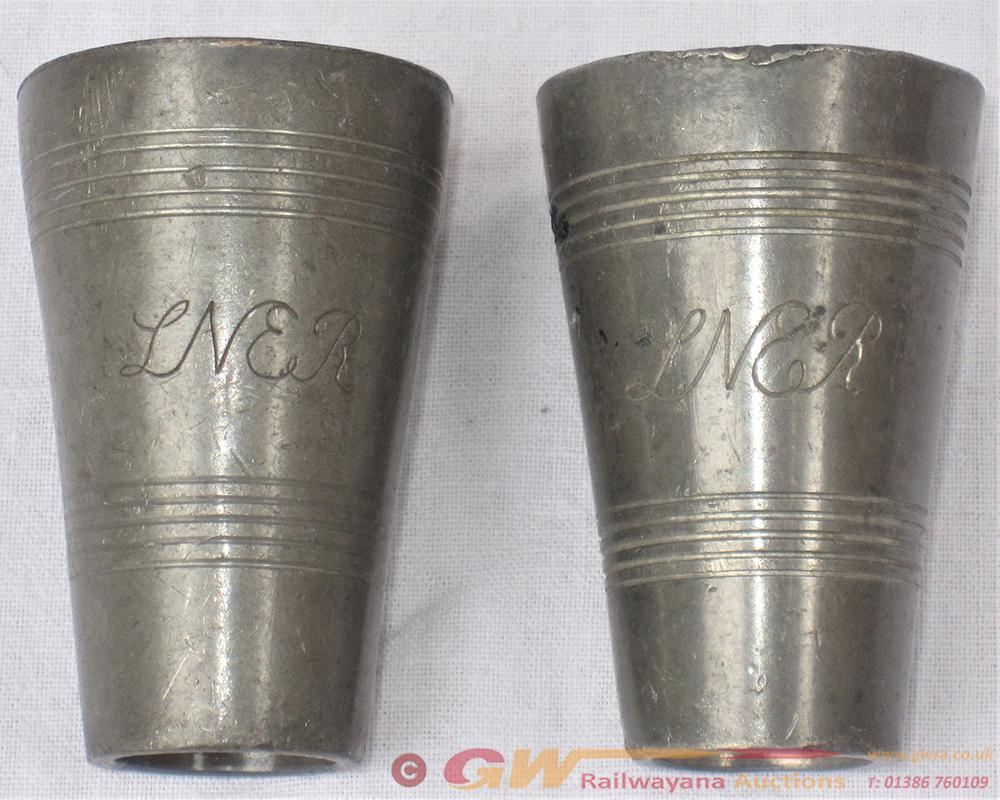 2 X LNER SPIRIT TOTS Engraved On Front LNER In