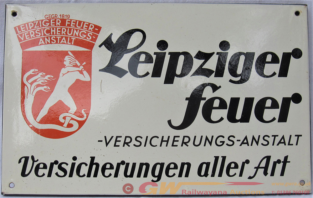An Enamel Fully Flanged Sign From Germany.