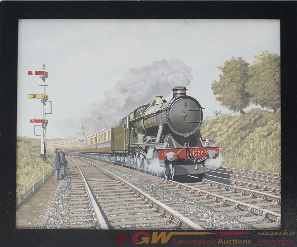 Original Painting. GWR County No 1022 By G LEWIS.