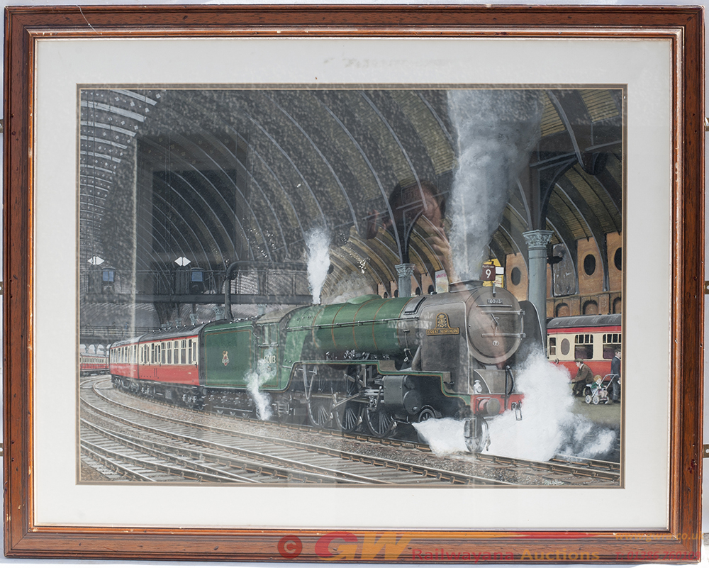 Original Painting. GREAT NORTHERN At York. Framed