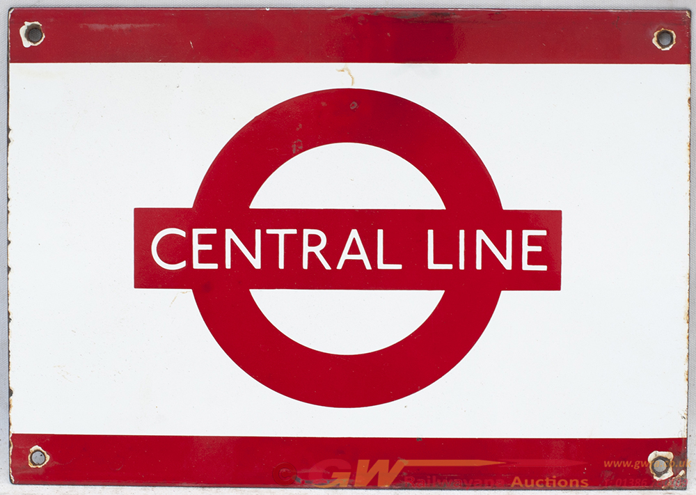 London Transport Enamel Frieze Sign. CENTRAL LINE.