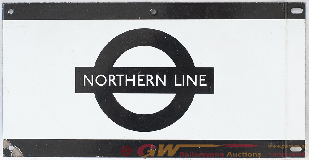 London Transport Enamel Frieze Sign. NORTHERN