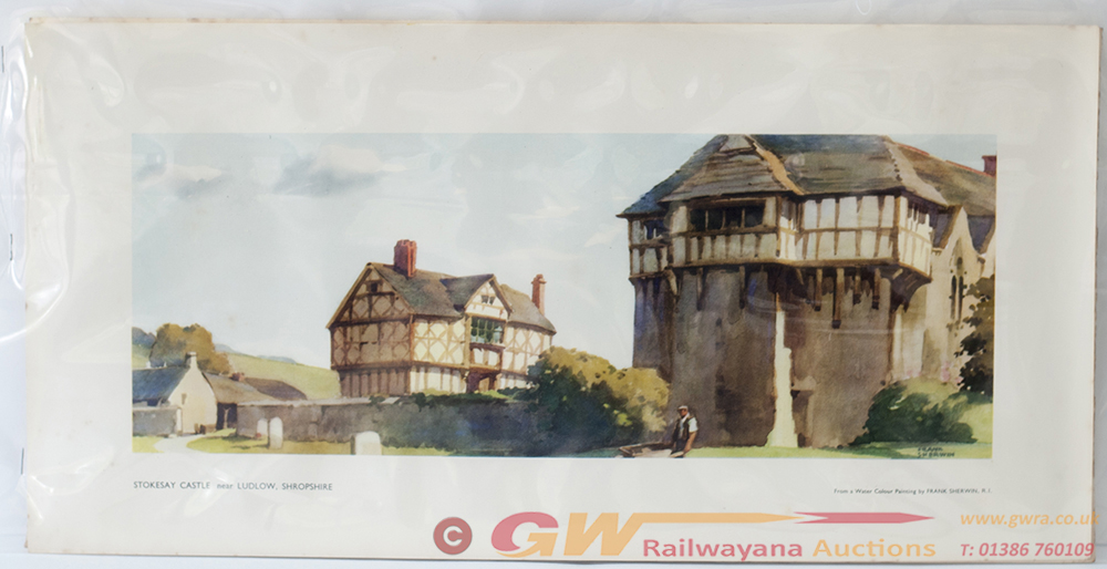 2 X Carriage Prints. STOKESAY CASTLE And LOCH