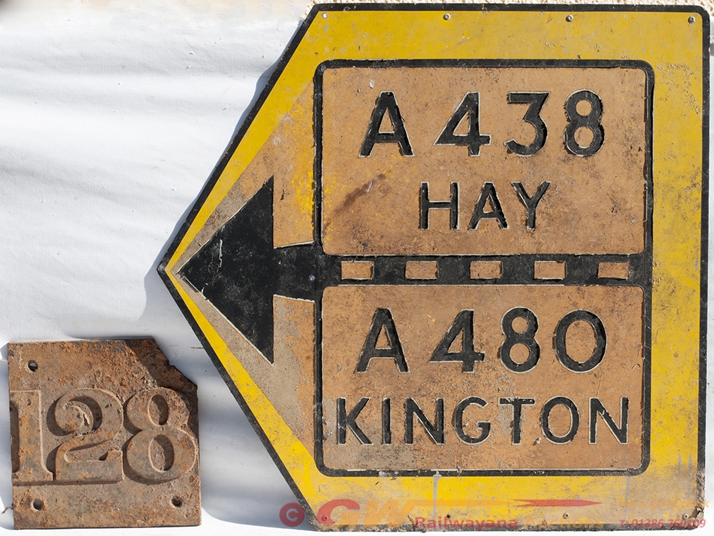 Road Direction Sign. A 438 HAY. A 480 KINGTON, And