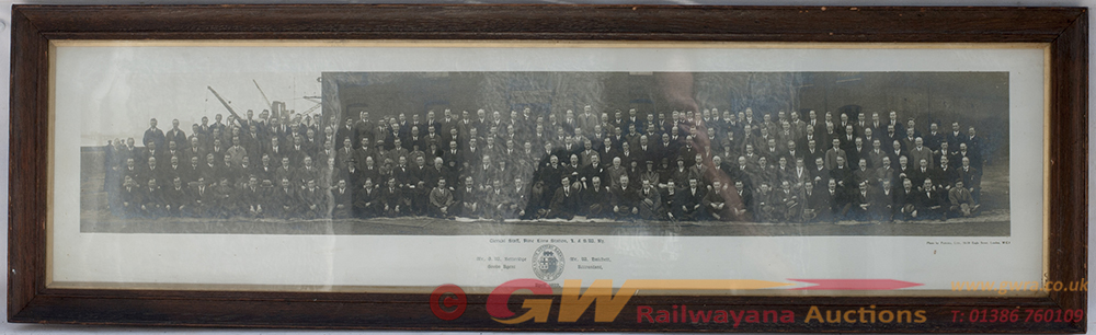 LSWR Official Glazed And Framed Photograph Of NINE