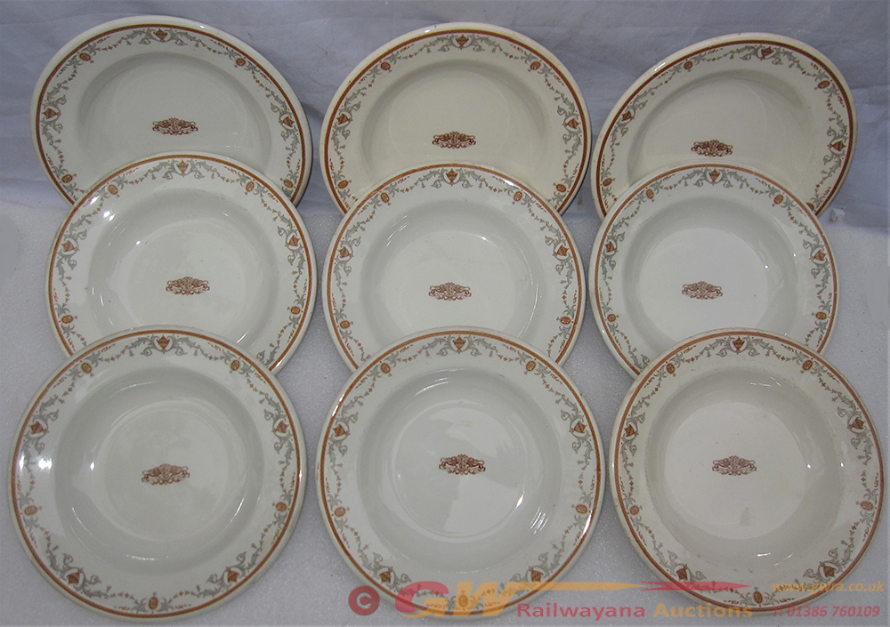 9 X Large PULLMAN Bowls With Pullman Logo In