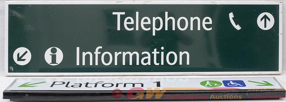 2 X Railway Enamels. Fully Flanged TELEPHONE