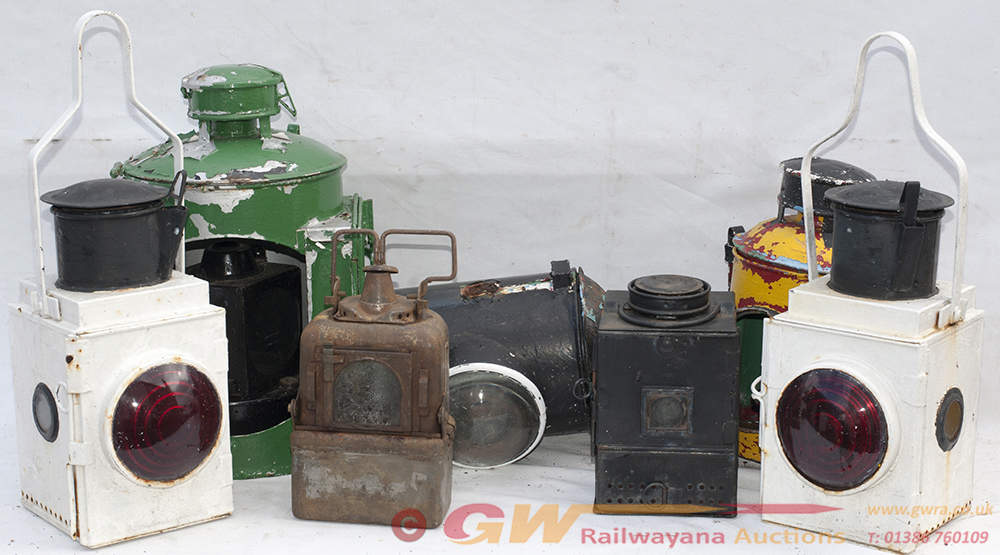 A Collection Of Railway Lamps To Include. 2 X BR