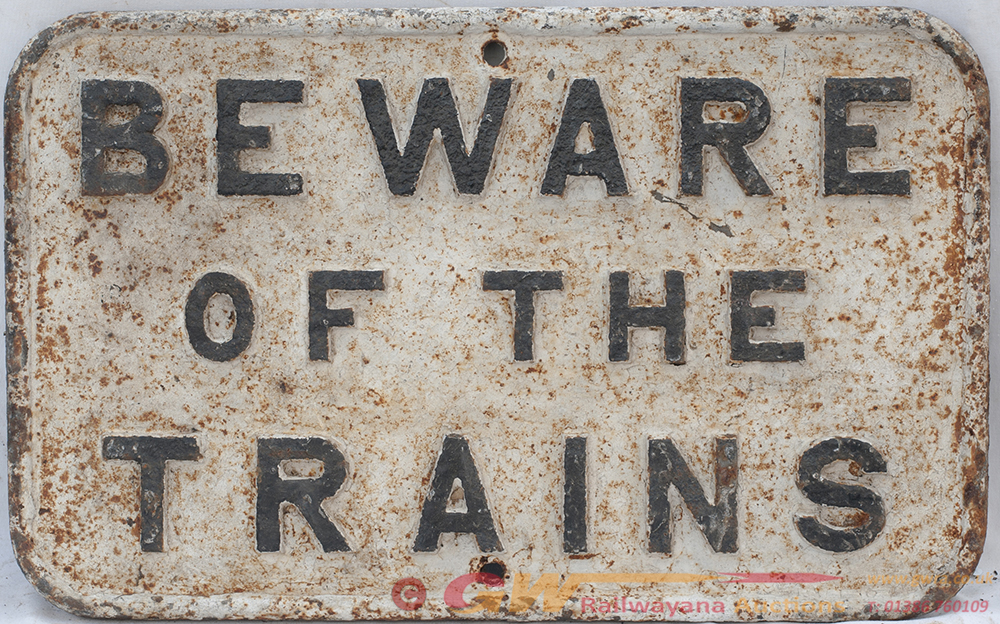 CLC Cast Iron BEWARE OF TRAINS. The Untitled