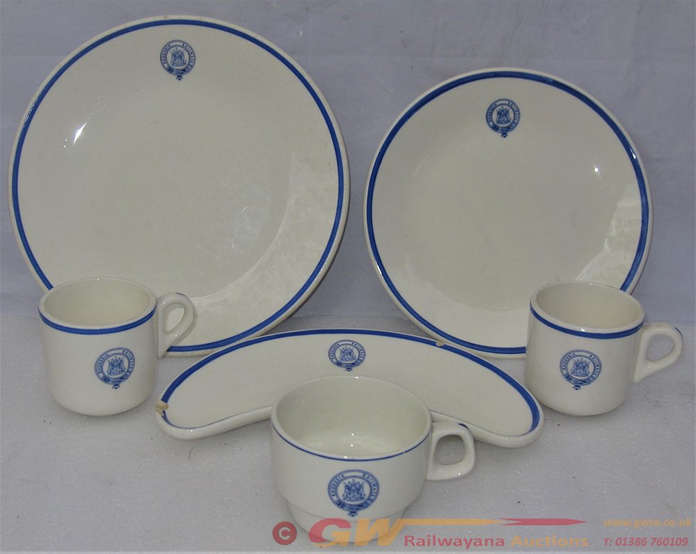 6 X Pieces Of Rhodesian Railway Dining Ware With