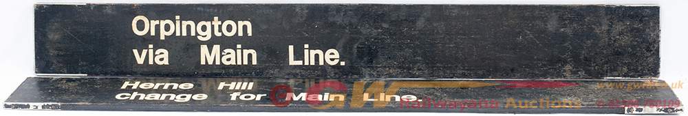 2 X Wooden Finger Boards. ORPINGTON Via MAIN LINE