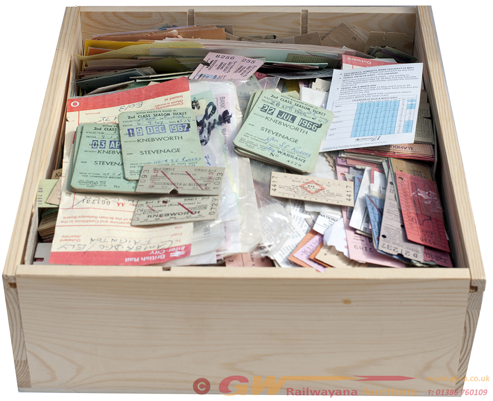 A Box Of Railway TRAIN TICKETS To Include Several