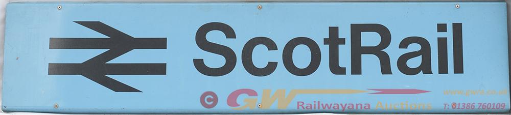 BR Modern Image Station Sign. SCOT RAIL Together