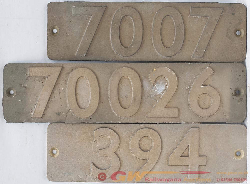 3 X REPLICA Brass Smoke Box Plates. 70026, 7007