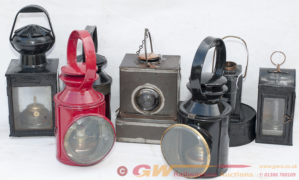 A Collection Of Railway Lamps. 2 X LT 3 Aspect