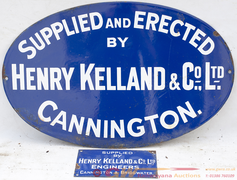 2 X Enamel Advertising Signs. SUPPLIED AND ERECTED