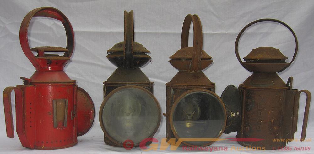 4 X Railway Guards Hand Lamps. 1 X LNER LOCO. 1 X
