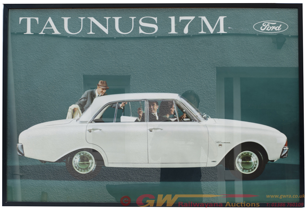 Framed And Glazed FORD POSTER Advertising THE