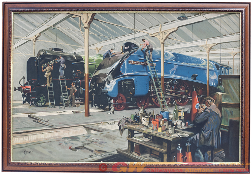 LNER Quad Royal Cut Down Poster Mounted Onto