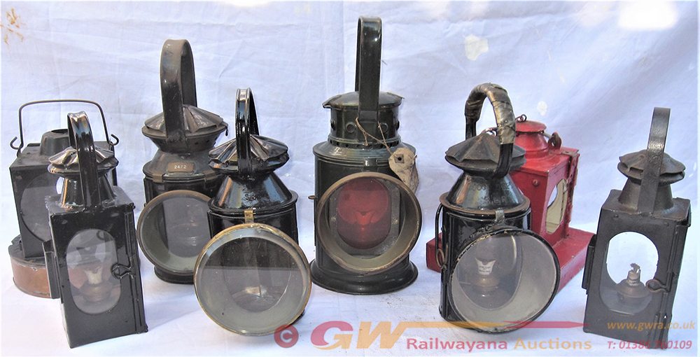 A Lot To Include 8 X Railway Lamps Of Various