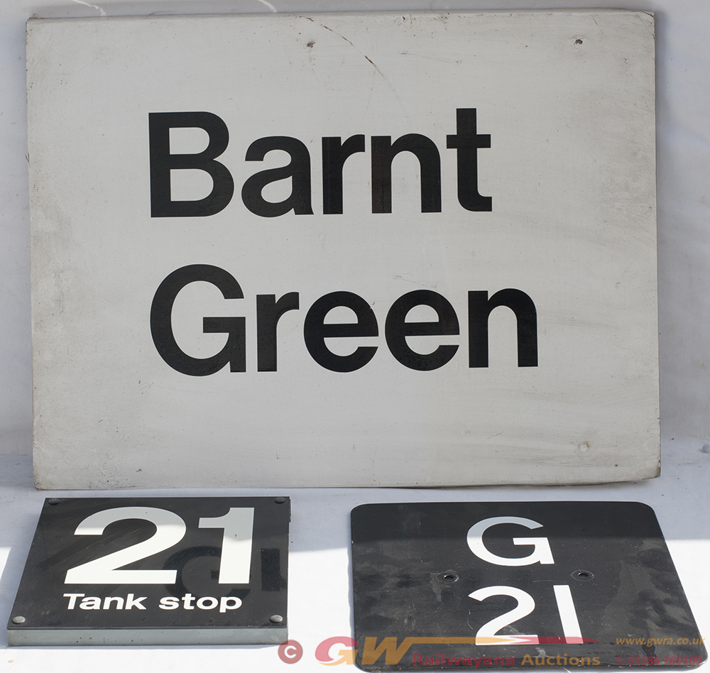 BARNT GREEN Station Sign Together With g21 Plate
