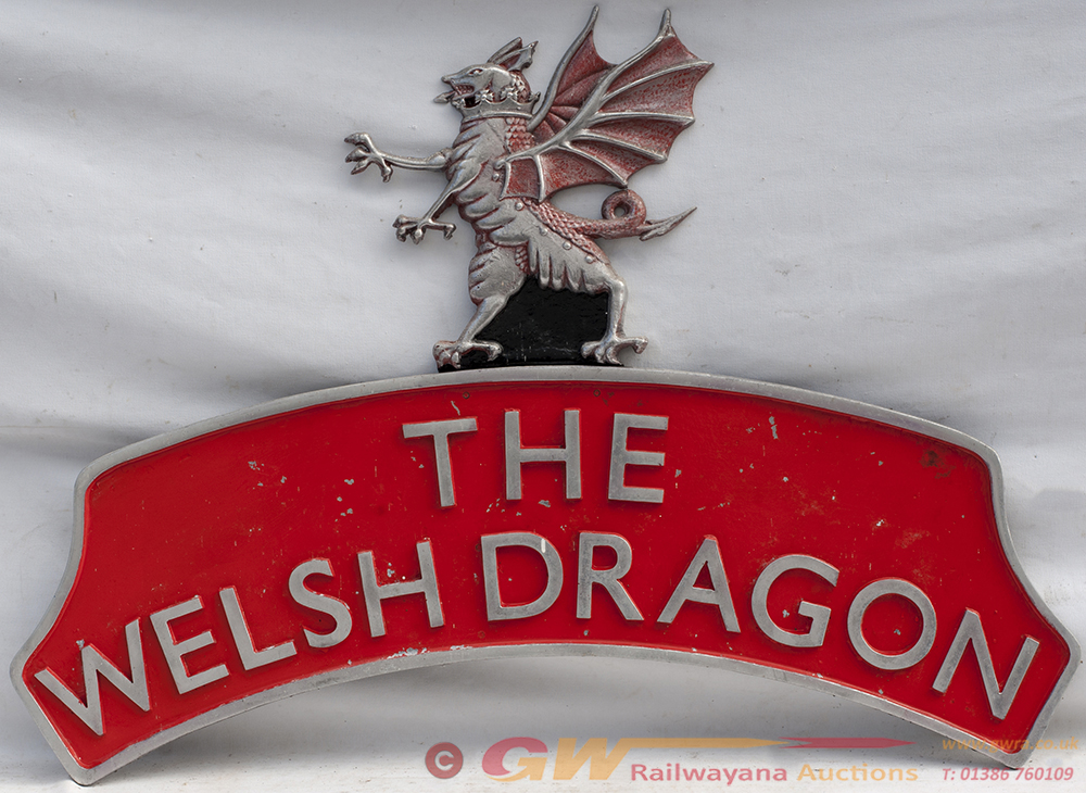 Alloy Headboard. THE WELSH DRAGON With Red Dragon