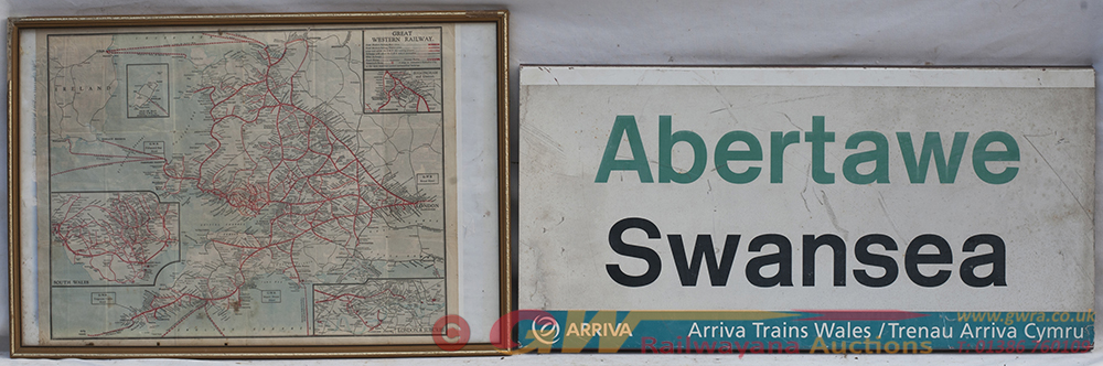 ARRIVA SWANSEA Station Sign Together With A GWR