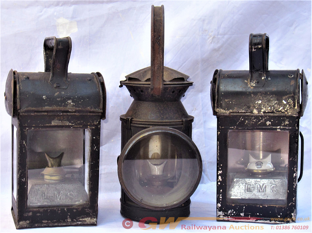 A Lot To Include 3 Railway Hand Lamps. 2 X LMS