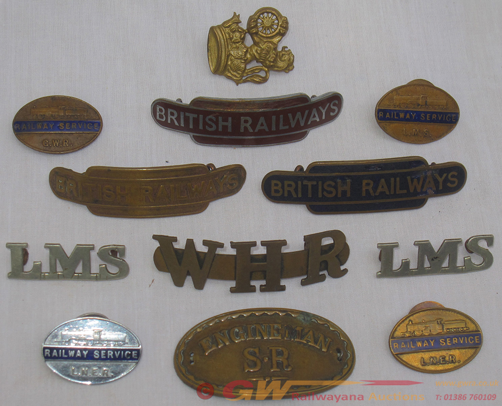 A Lot Containing Various Railway Cap And Service