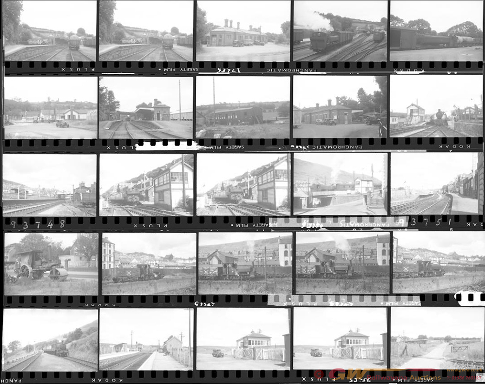 Approximately 62, 35mm Negatives. Includes BP&GVR,