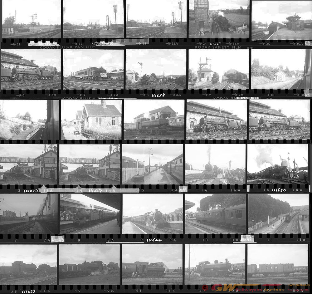 Approximately 63, 35mm Negatives. Includes BRGV