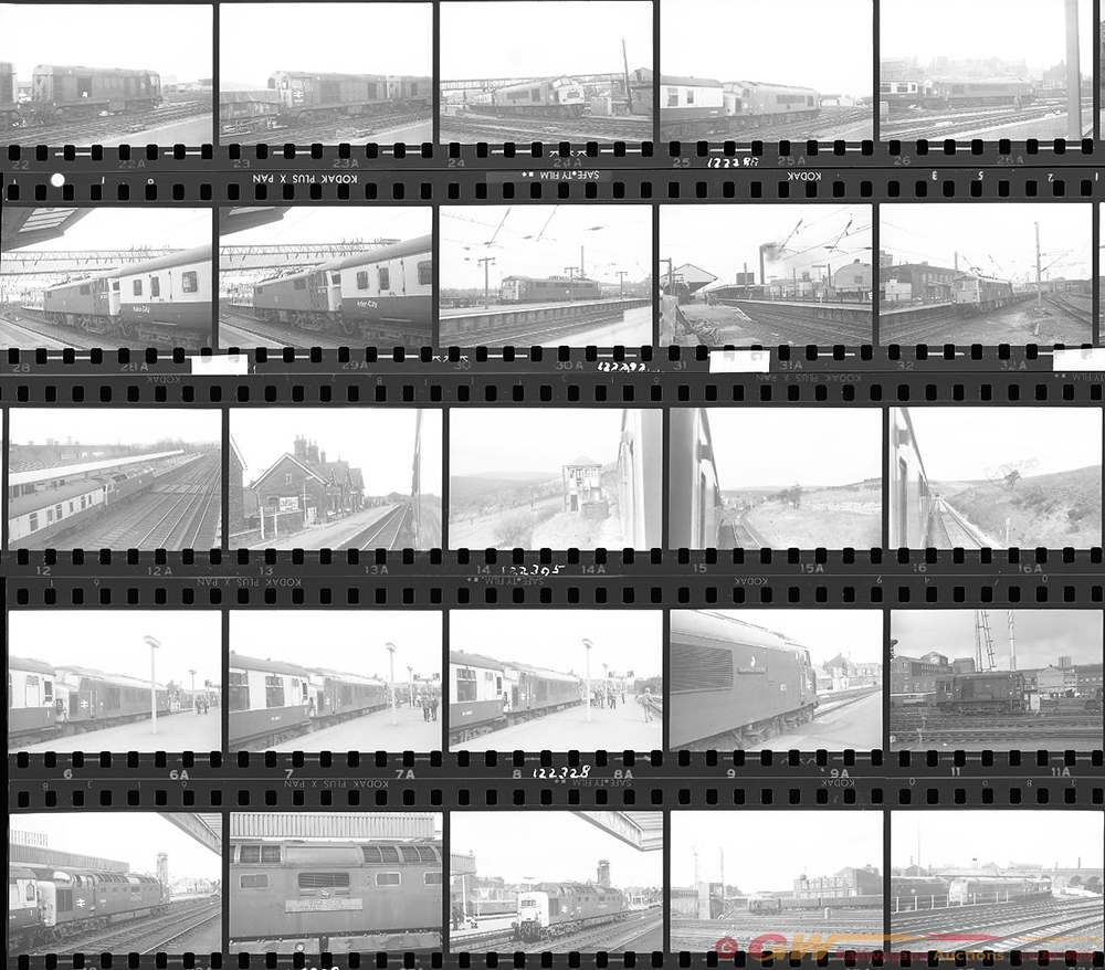 Approximately 110, 35mm Negatives. Includes Derby,