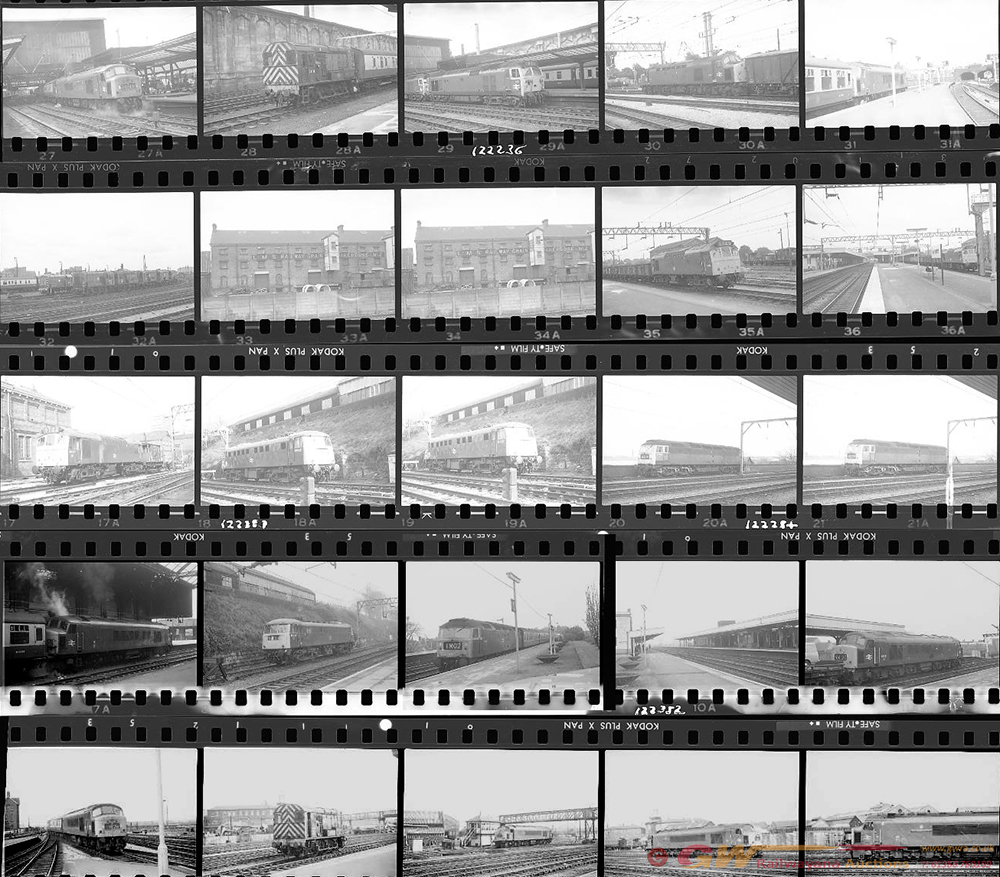 Approximately 100, 35mm Negatives. Includes Derby